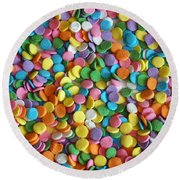 Sugar Confetti Round Beach Towel