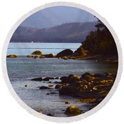Sugar Pine Point Beach Round Beach Towel