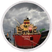 Sugar Ship Round Beach Towel