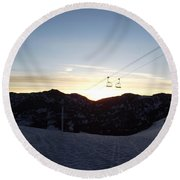 Sugarloaf Sunrise Round Beach Towel