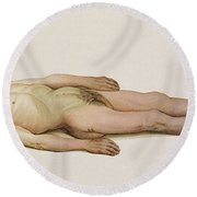 Suicide By Hanging, 1898 Round Beach Towel by Science Source