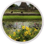 Sukhothai Historical Park Round Beach Towel