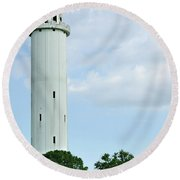 Sulfur Springs Water Tower Round Beach Towel