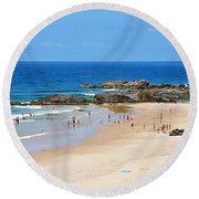 Summer At Port Macquarie Round Beach Towel