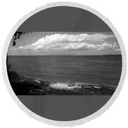 Summer At The Point Round Beach Towel