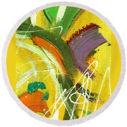 Summer Bliss I Round Beach Towel