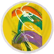Summer Bliss Iv Round Beach Towel