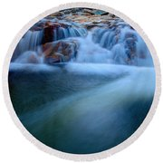 Summer Cascade Round Beach Towel