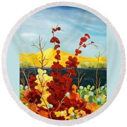 Summer Foliage Round Beach Towel