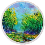 Summer In The Wood 452160 Round Beach Towel