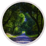 Summer Lane Round Beach Towel
