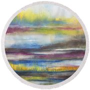 Summer Marsh Round Beach Towel