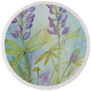 Summer Meadow Round Beach Towel