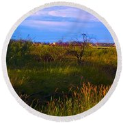 Summer Shot Of Old Shack By Creek, St Round Beach Towel