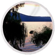 Summer Solitude Round Beach Towel