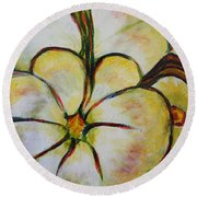 Summer Squash Round Beach Towel