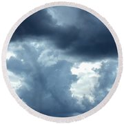 Summer Storm Round Beach Towel