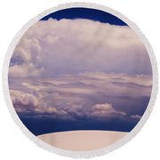 Summer Storms Over The Mountains 2 Round Beach Towel