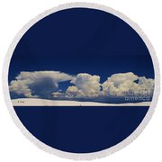Summer Storms Over The Mountains 3 Round Beach Towel