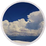 Summer Storms Over The Mountains 4 Round Beach Towel