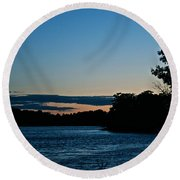 Summer Sundown Round Beach Towel