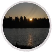Summer Sunset Round Beach Towel