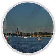 Summers Canal Round Beach Towel
