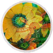 Summers Soup Round Beach Towel