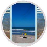 Summertime Fun Round Beach Towel