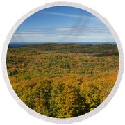Summit Peak Autumn 12 Round Beach Towel