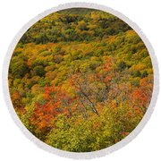 Summit Peak Autumn 6 Round Beach Towel