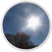 Sun Beams Round Beach Towel