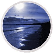 Sun At The Shore II Round Beach Towel