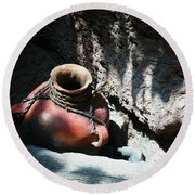 Sun Dappled Pottery Round Beach Towel by Jeff Swan