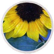 Sun Flower Round Beach Towel
