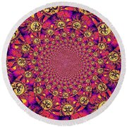 Sun Pattern Round Beach Towel