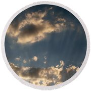 Sunbeams From Heaven Round Beach Towel