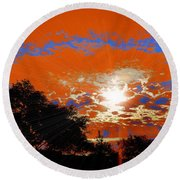 Sunburst Round Beach Towel by RJ Aguilar