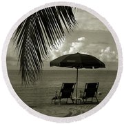 Sunday Morning In Key West Round Beach Towel