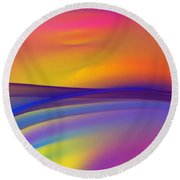 Sundown 110811 Round Beach Towel