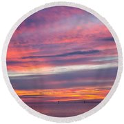 Sundown In Dunedin Round Beach Towel