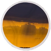 Sundown Over Sanibel Round Beach Towel