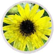Sunflower 5 Sf5wc Round Beach Towel