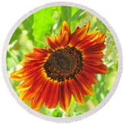 Sunflower Beauty Round Beach Towel