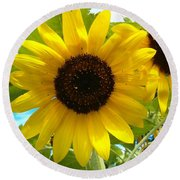 Sunflower Medley Round Beach Towel