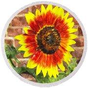 Sunflower Sfwc Round Beach Towel