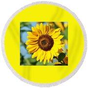Sunflower Small File Round Beach Towel