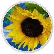 Sunflower Too Round Beach Towel