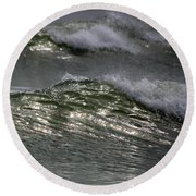 Sunlight And Waves 1 Round Beach Towel