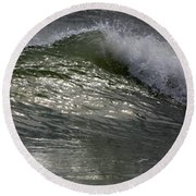 Sunlight And Waves 2 Round Beach Towel